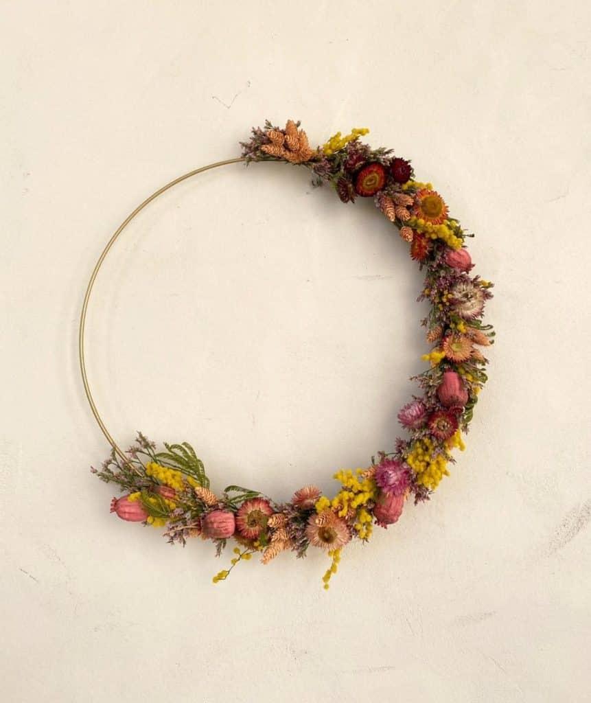 Couronne fleurs séchées